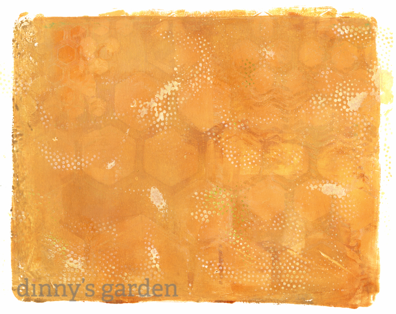 Gelli Arts Plate Print | dinny's garden