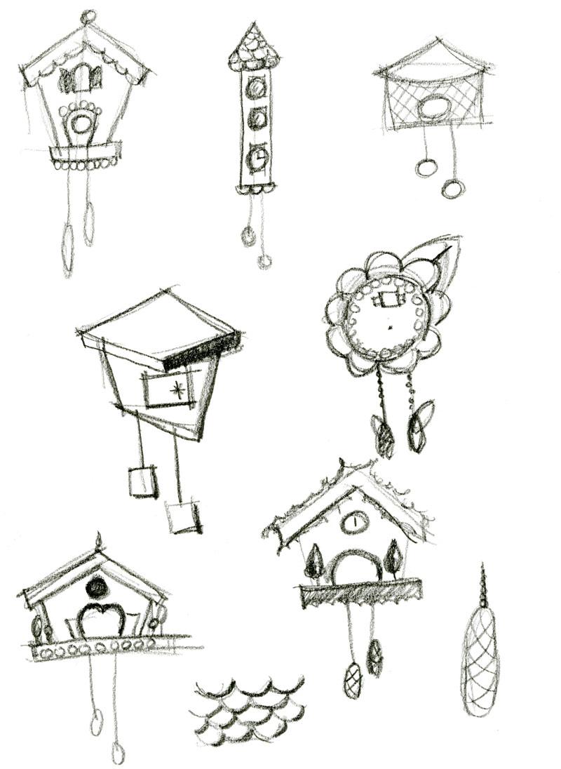 dinnys garden cuckoo sketch