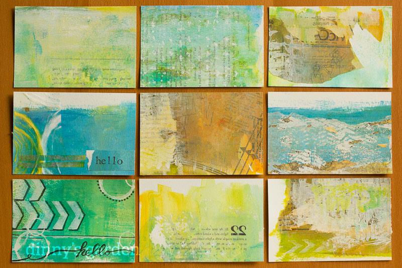 dinny iHanna DIY postcard swap