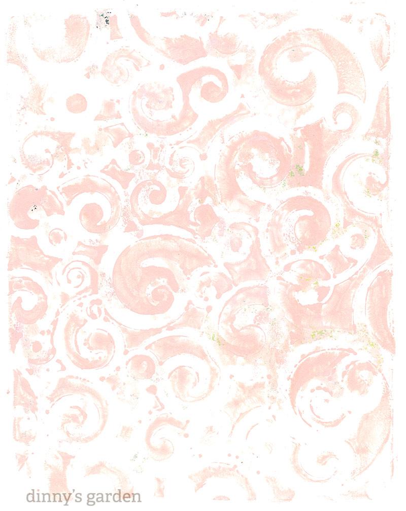 dinny's garden | gelli plate mono print