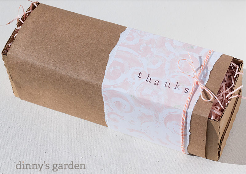 dinny's Garden | Gelli Print Gift Wrapping