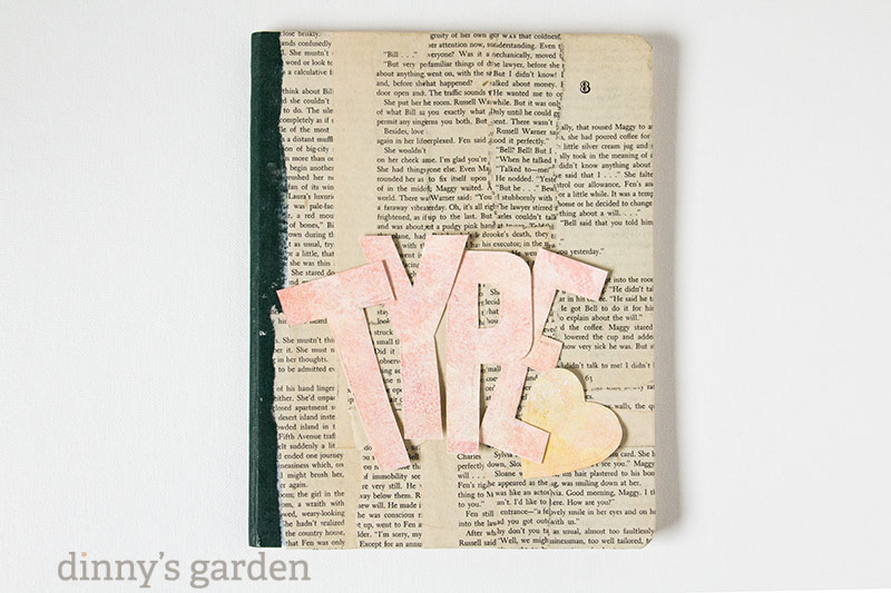 dinnys garden | type journal mixed media