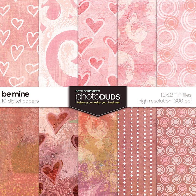 photoDUDS | Be Mine Digital Paper Pack